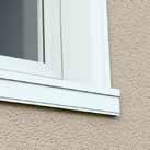 Détail sur un encadrement de fenêtre