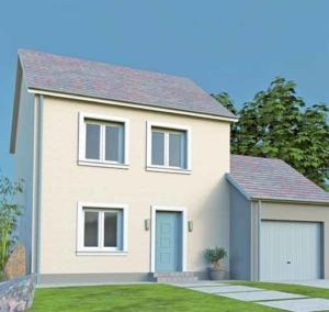 Maison avec isolation de façade par l'exterieur