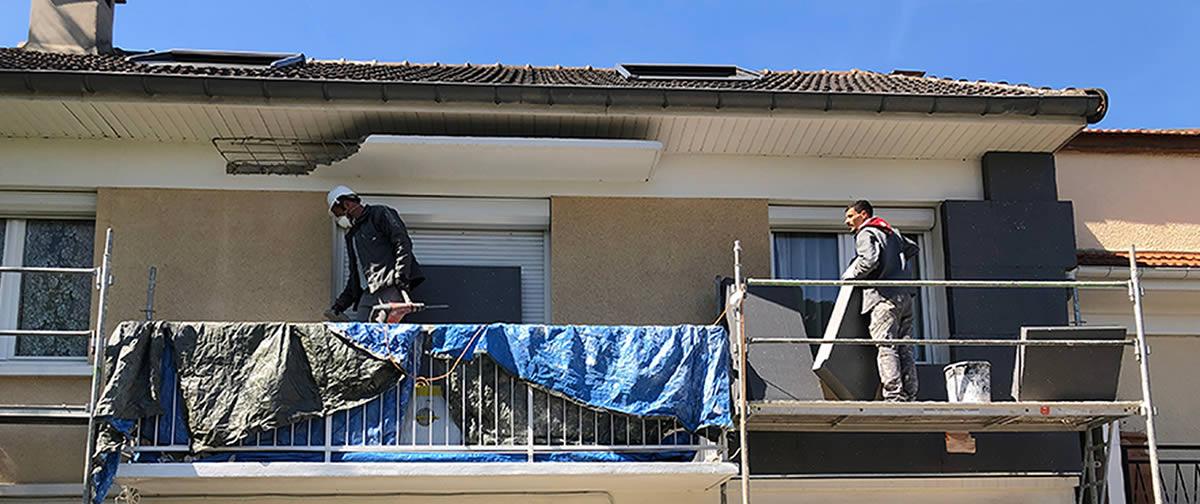 Isolation thermique par l'extérieur d'une maison en Val-de-Marne